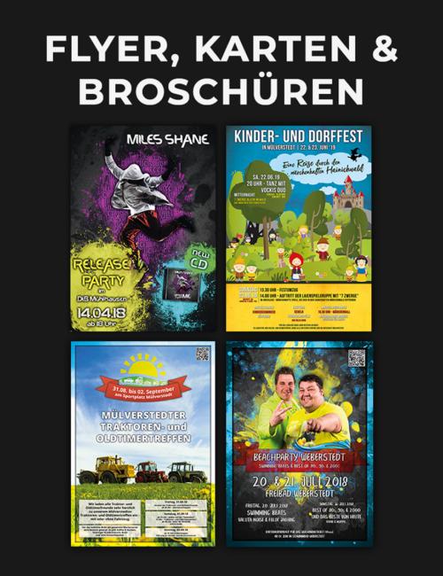 Flyer, Karten & Broschüren